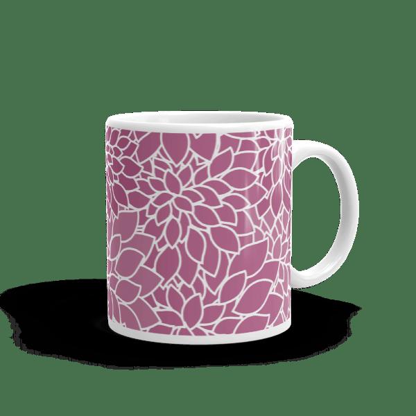 Abstract Leafy Purple Mug