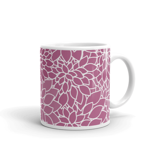 Abstract Leafy Purple Mug