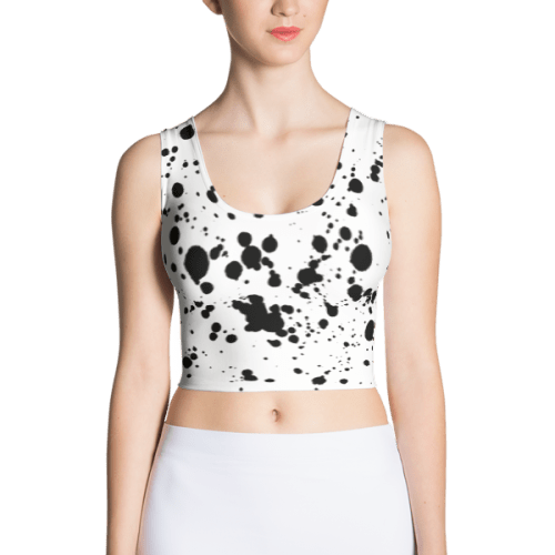 Ink Splatter Grunge Crop Top