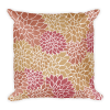 Abstract Leafy Multi-color Square Pillow