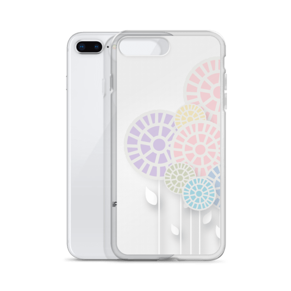 Multi-Colored Floral Lollipops iPhone 6, 7, 8, and X Cases
