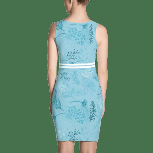 Blue Fall Leaves Dress