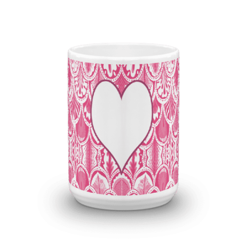 Abstract Hearts Pink Mug