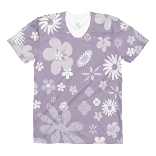 Floral Pale Purple women's t-shirt
