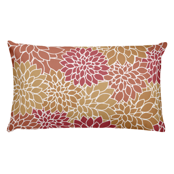 Abstract Leafy Multi-color Rectangular Pillow