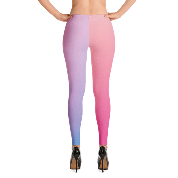 Gradient Pink and Blue Toned Leggings
