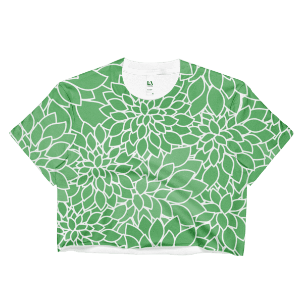 Abstract Leafy Green Crop Top