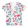 Colorful Earthy Floral women's crew neck t-shirt