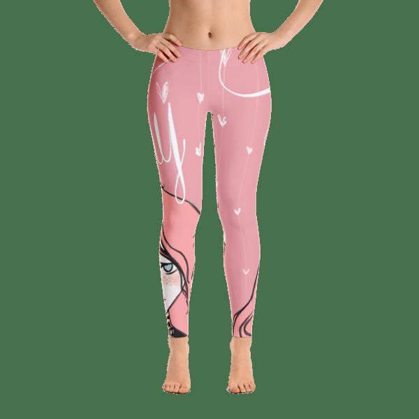 Beautiful pink shy girl collection leggings GonegirlDesigns