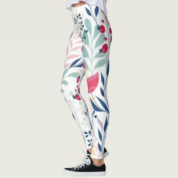 Beautiful Multicolored Earthy Floral Women's Leggings