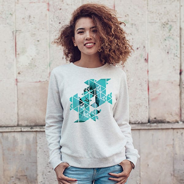 Abstract Geometric Grid Rebel Mermaid Sweatshirt