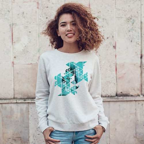 Abstract Geometric Grid Rebel Mermaid Sweatshirt women and men apparel