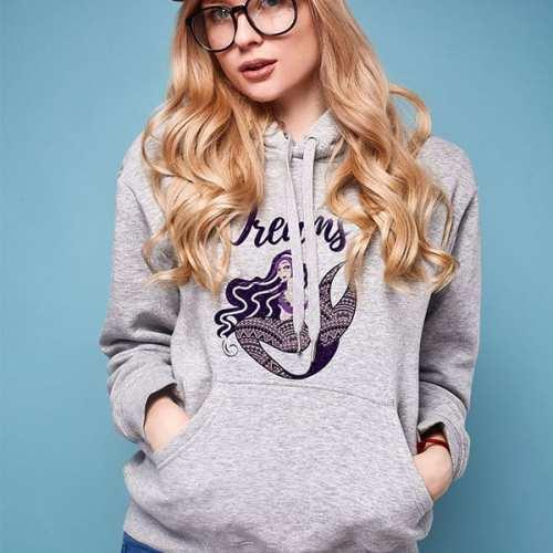 dreams mermaid fantasy royal hooded sweatshirt
