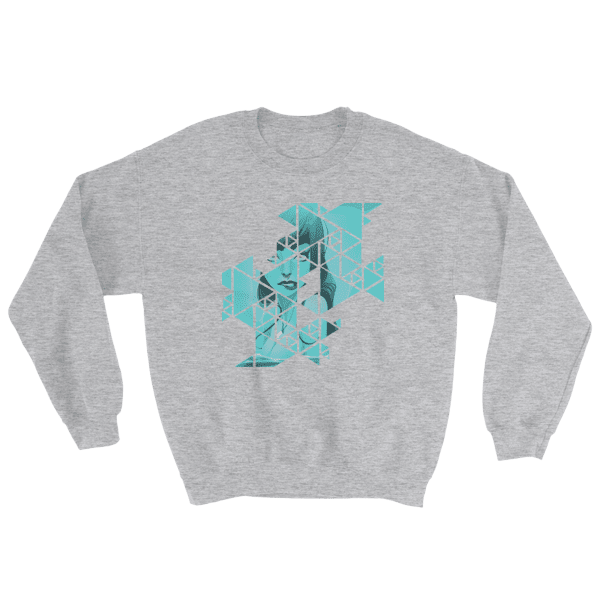 Abstract Geometric Grid Rebel Mermaid Sweatshirt women and men apparel