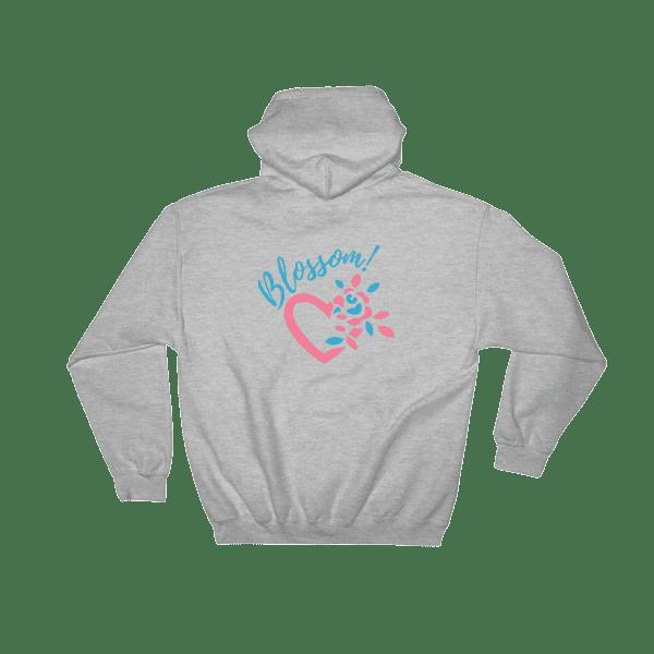 Blossom Heart Petals Hooded Sweatshirt Women's and Men's Hooded Sweatshirt iamgonegirldesigns