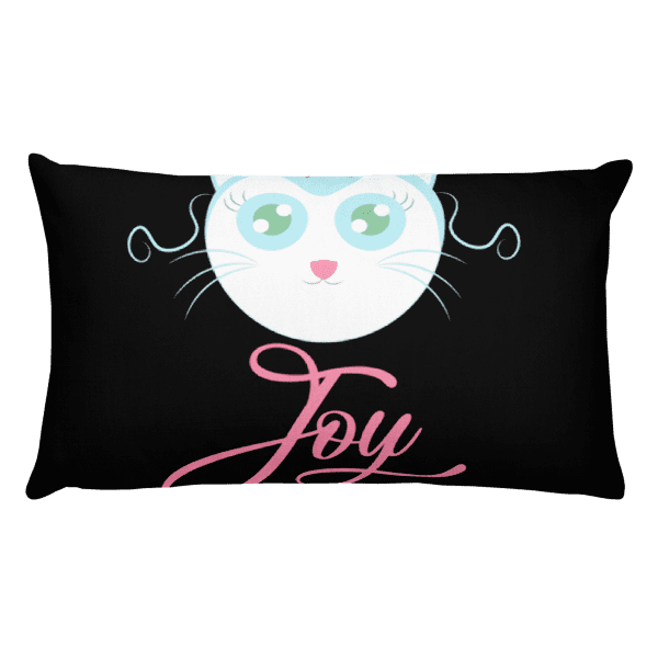 Joyful Cat Rectangular Pillow