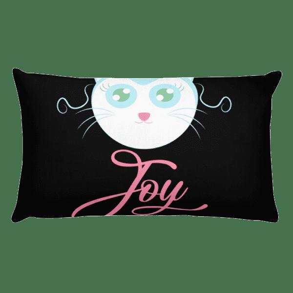 Joyful Cat Rectangular Pillow
