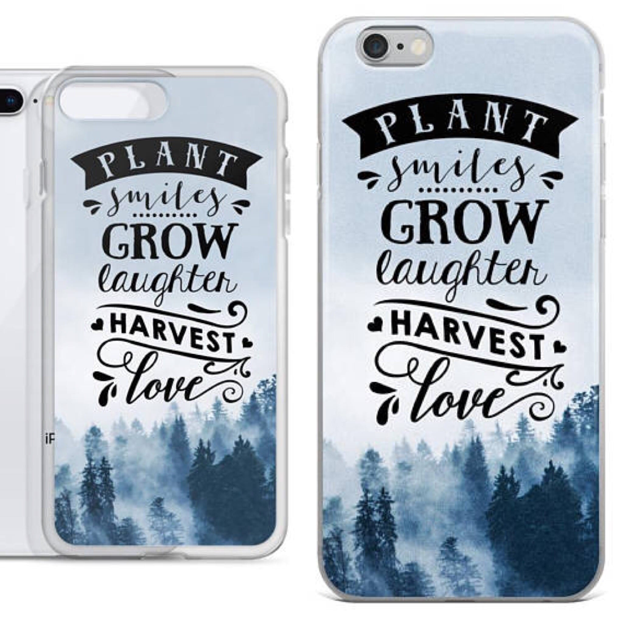 Plant Smiles Grow Laughter Quotes iPhone Case, iPhone X Case, Motivational Quotes iPhone 8 Plus Case, iPhone 7 case