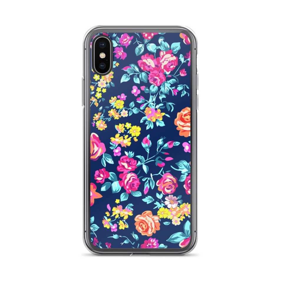 Gorgeous floral chaos iPhone X case, iPhone 8 plus case, iPhone 7 cases
