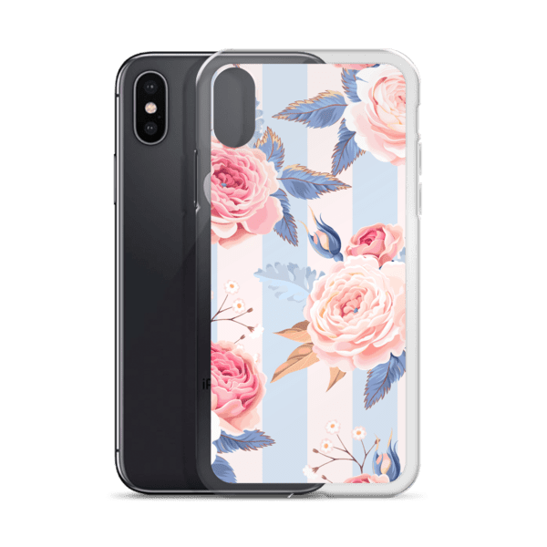 Blue and Pink Floral iPhone Case