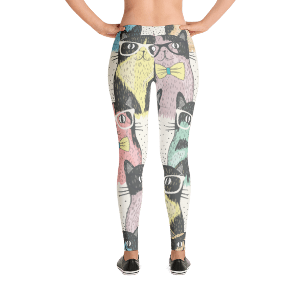 Nerdy Cats Colorful Pattern Leggings