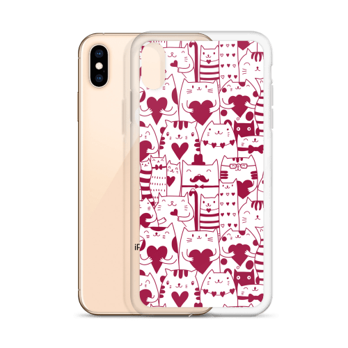 Valentine Meow Love Kittens iPhone Case – Cat Lover Gifts