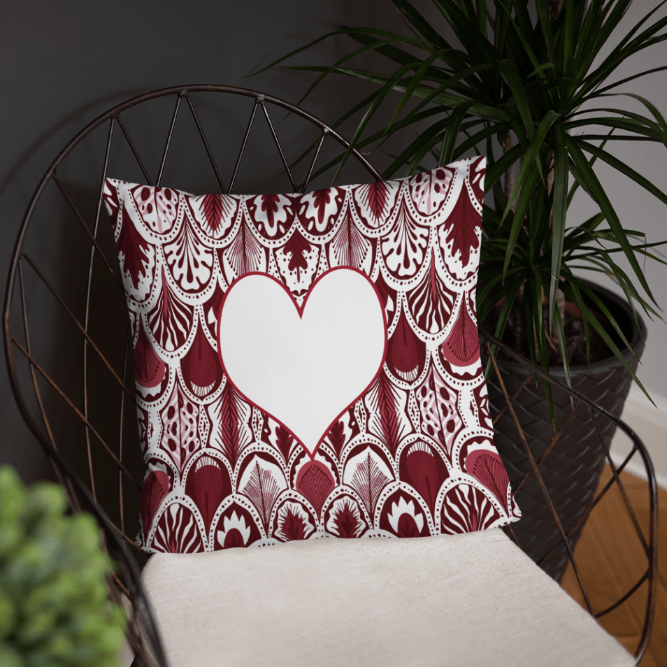 WICKED Hearts Abstract Valentine's Day Pillow Cover with Insert - Valentine Home Decoration