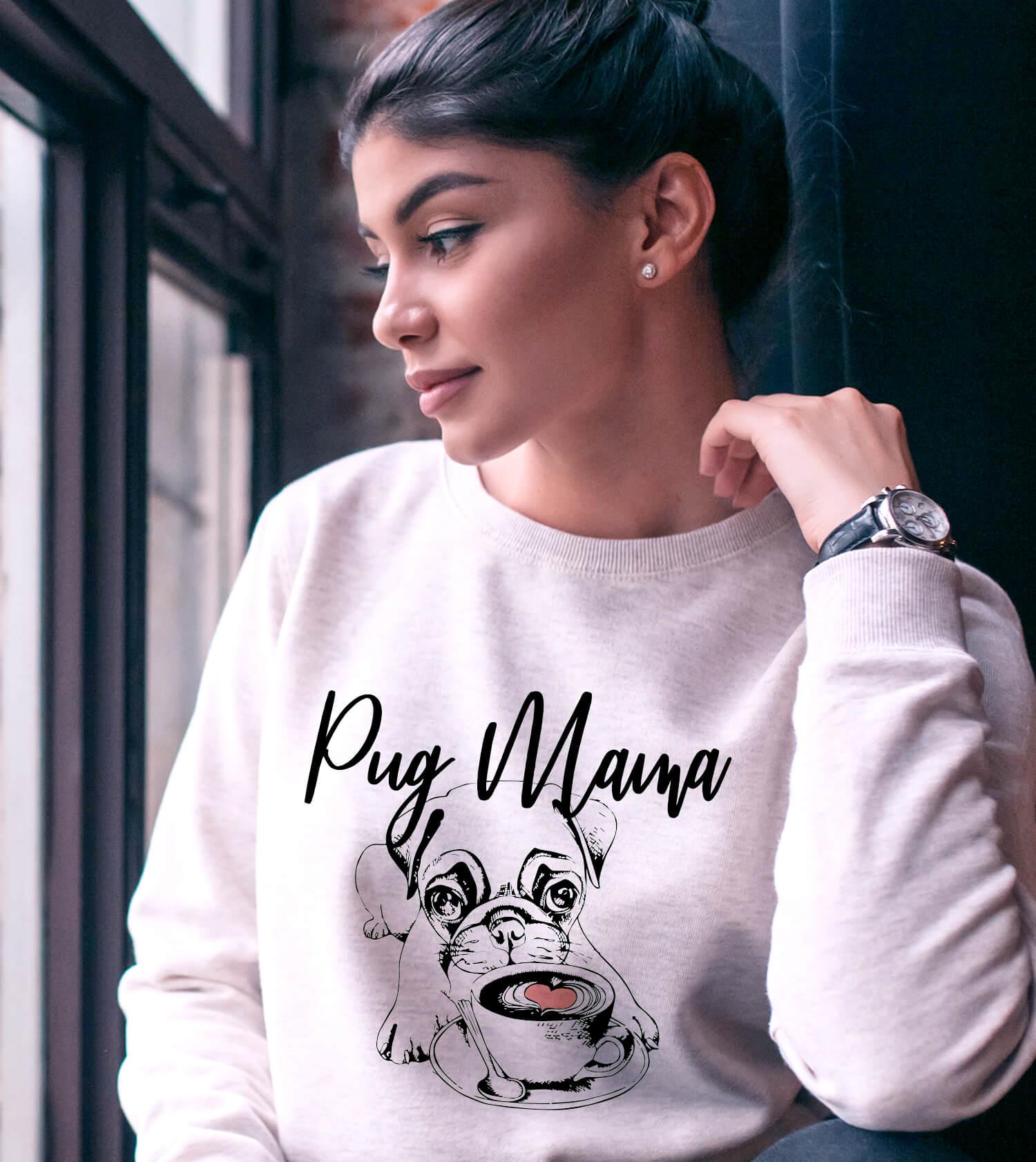 Pug Mama Sweater - Pug Lover Gift