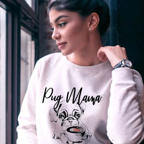 Pug Mama Sweater – Pug Lover Gift