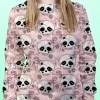 Floral Half Skull Sweater