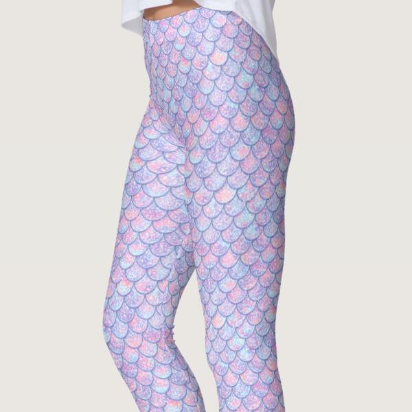 Amethyst Gradient Mermaid Leggings