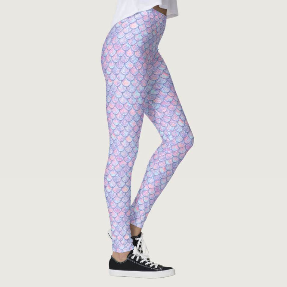 Amethyst Gradient Mermaid Leggings