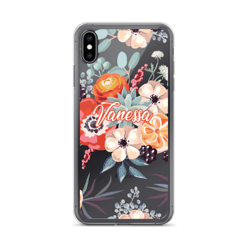 Personalized Watercolor Blanket Flowers and Peonies iPhone Case