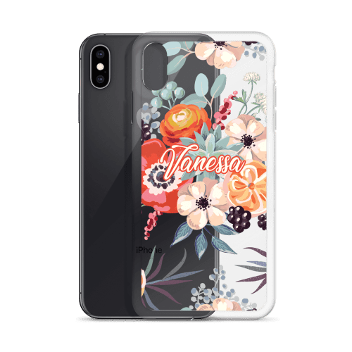 Watercolor Blanket Flowers and Peonies iPhone Case