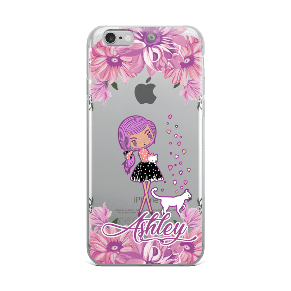 super popular fea51 e82ce Personalized Kittens and Friends Peony Clear iPhone 6s Plus - XS Max Case