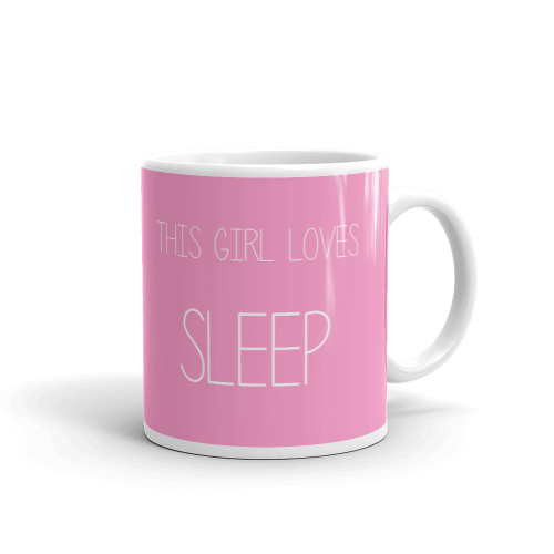 This Girl Loves Sleep Pink Mug