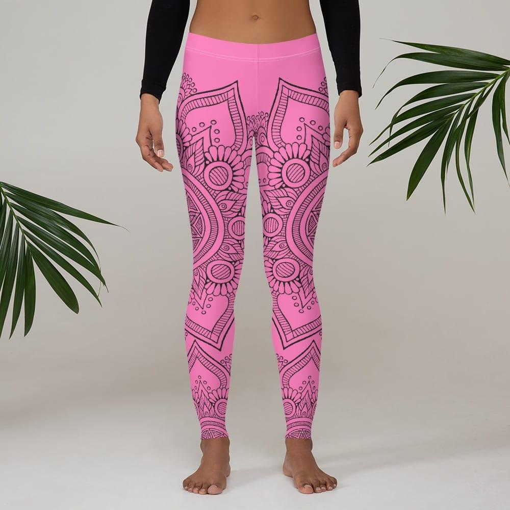 Pink Mandala Floral Leggings