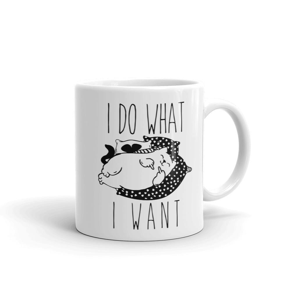 I Do What I Want Cat Mug