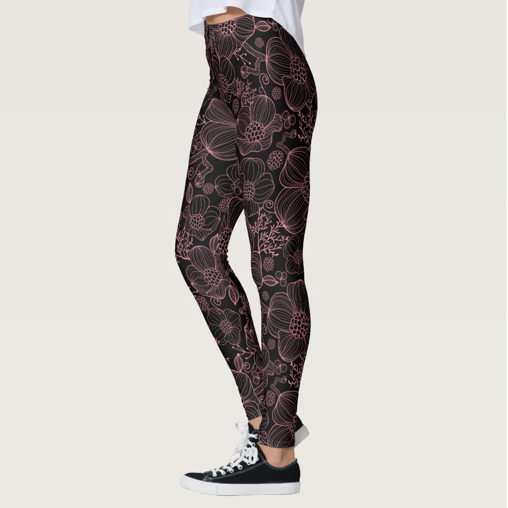 Black Pink Cosmos Leggings