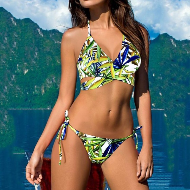 Tropical Bandage Bikini Set