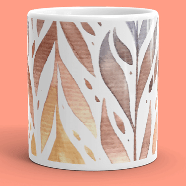Watercolor Splash Feathery Mug
