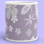 Purple Flower mug cute