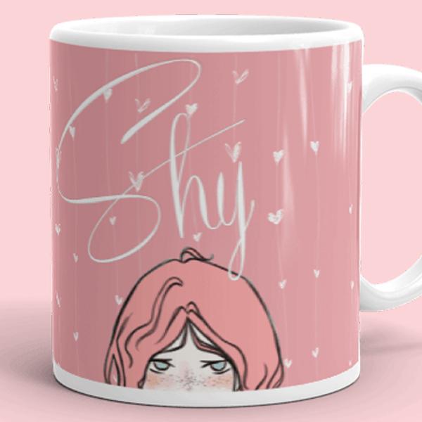 Shy Girl Pink Mug