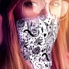 Boho Gothic Black Sphynx Cat Multi-use Neck Gaiter For Women   12-in-1 Cat Face Shield   Washable   Sphynx Bandana   Hair Wrap   Face Cover
