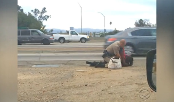 Cop-Beats-Woman-On-California-Freeway