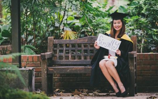 Graduation shoot in Botanic Gardens