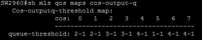 mls qos maps cos-output default