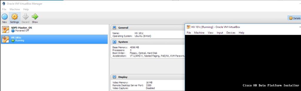 Hyperflex 1.8 installer on Virtualbox