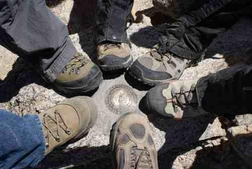 The feet on the summit.