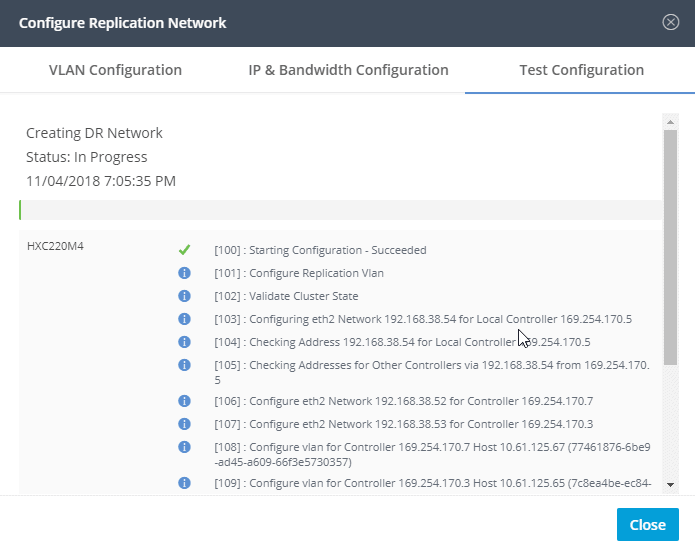 Disaster Recovery configuration
